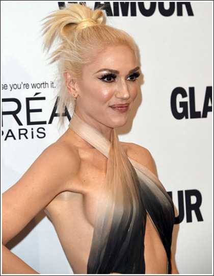 Gwen Stefani Flashes Some Braless Bosom Action
