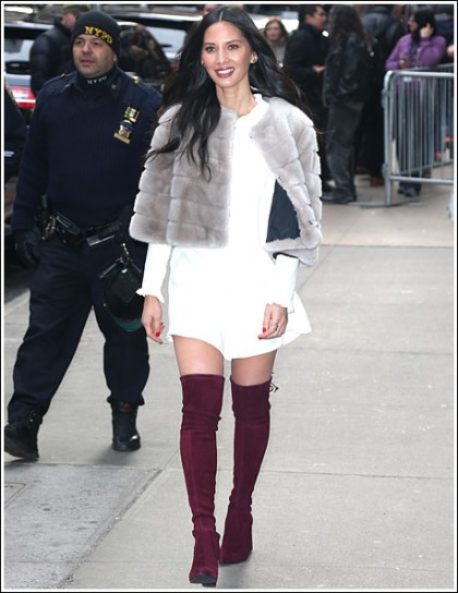 Olivia Munn Struts Her Sexy Legs In Knee-High Boots