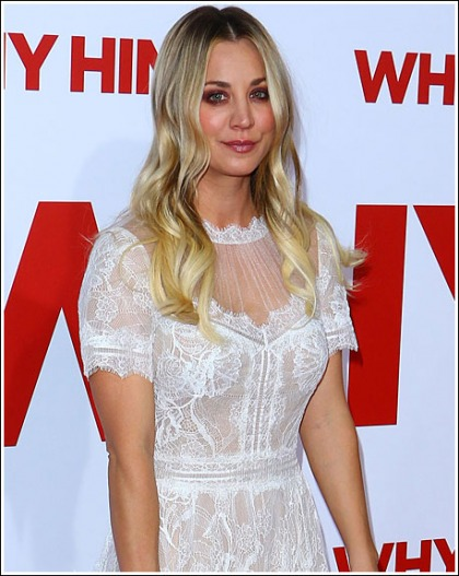 Kaley Cuoco Busting Out Big Time At The 'Why Him?' Premiere