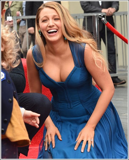 Blake Lively Drops A Ton Of Cleavage At Ryan Reynolds' Hollywood Walk Of Fame Ceremony' WOW!