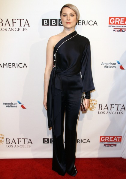 Evan Rachel Wood in Jonathan Simkhai at the BAFTA tea party: lovely or dated?