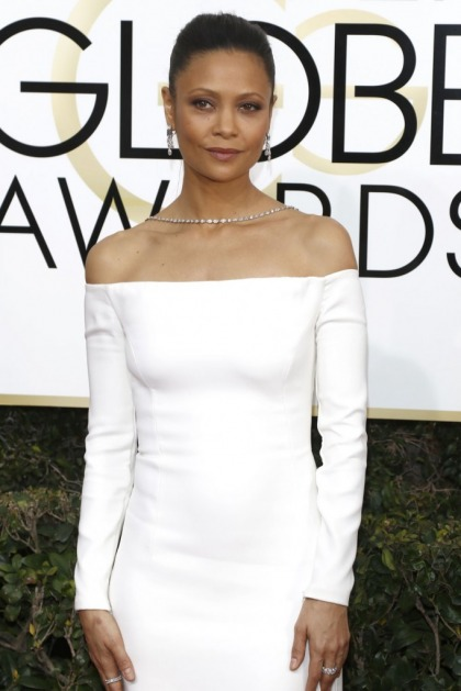 Thandie Newton in white Monse at the Golden Globes: overlooked?
