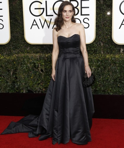 Winona Ryder in satin Viktor & Rolf at the Golden Globes: '90s fab or '90s fug'