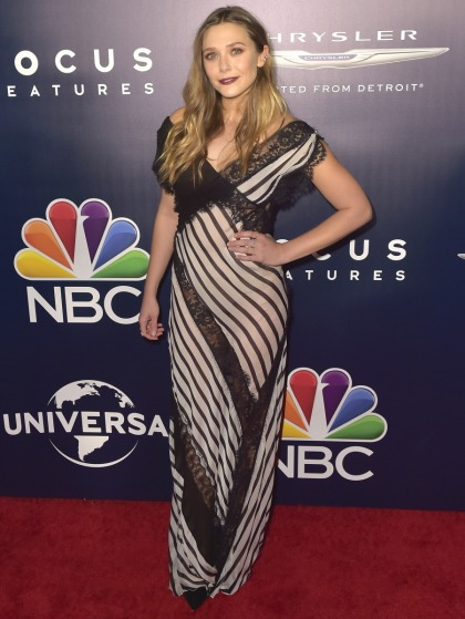 Elizabeth Olsen in Alberta Ferretti: one of the worst Globes after-party looks?