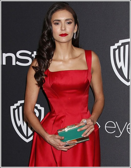 Nina Dobrev Gets Red Hot And Busty