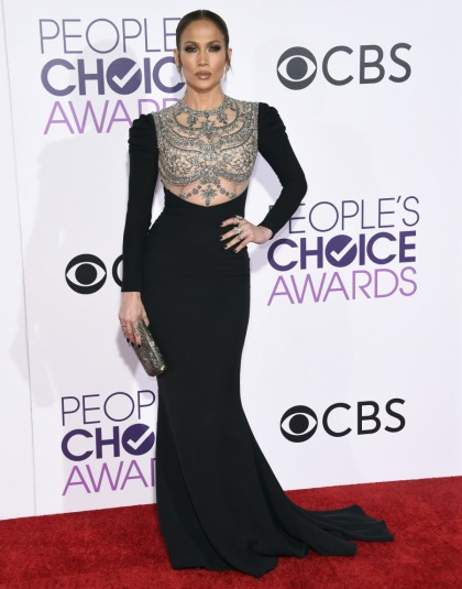 Jennifer Lopez in Reem Acra at the People's Choice Awards: matronly or hot'