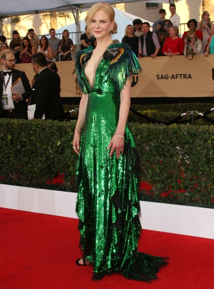 Nicole Kidman in shiny green Gucci at the SAGs: ridiculous or fun?