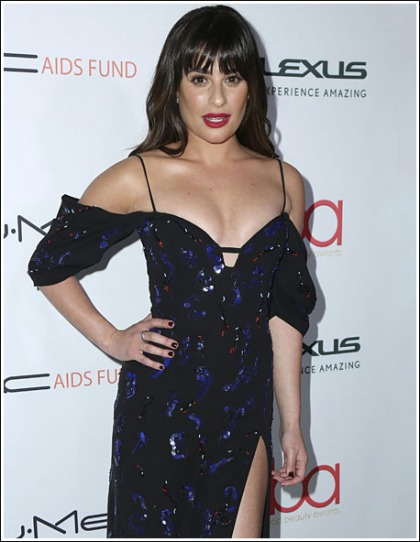 Lea Michele Drops Some Beautiful Braless Cleavage