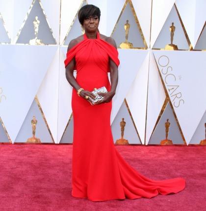 Viola Davis was a major fashion winner in custom Armani at the Oscars
