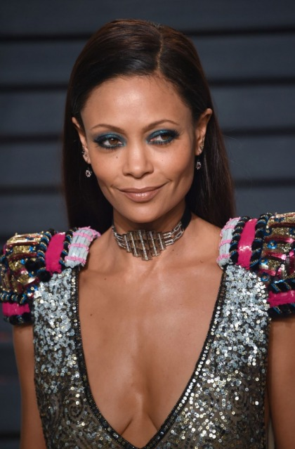 Thandie Newton in Schiaparelli at the VF Oscar party: slaying it or fug?