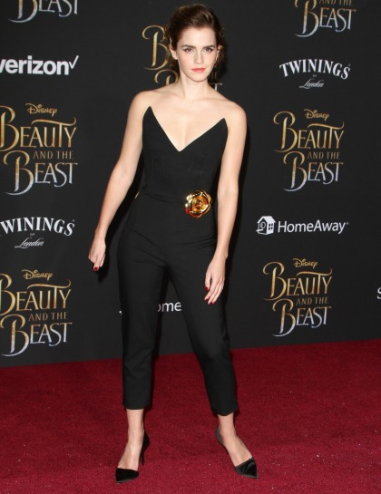 Emma Watson killed it in an Oscar de la Renta jumpsuit for LA 'Beauty' premiere