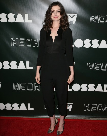 Anne Hathaway in Vivienne Westwood at 'Colossal' premiere: stunning'