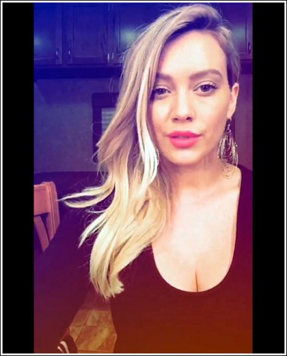 Hilary Duff Drops Some Massive/Perfect Cleavage Action
