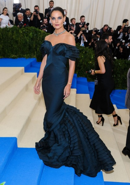 Katie Holmes in Zac Posen at the Met Gala: boring fishtail gown or glamorous?