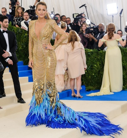 Blake Lively in Versace at the Met Gala: how dare you talk about her style!