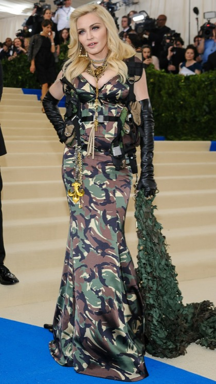 Madonna in camo Jeremy Scott at the Met Gala: sad, interesting or cheap?