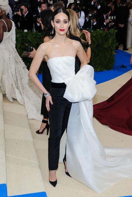 Emmy Rossum in Carolina Herrera at the Met Gala: amazing or underwhelming?