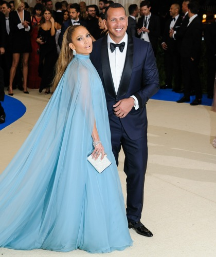Jennifer Lopez in Valentino, with A-Rod at the Met Gala: ugh or amazing?