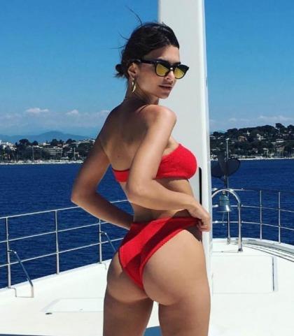 Emily Ratajkowski's Booty On A Boat