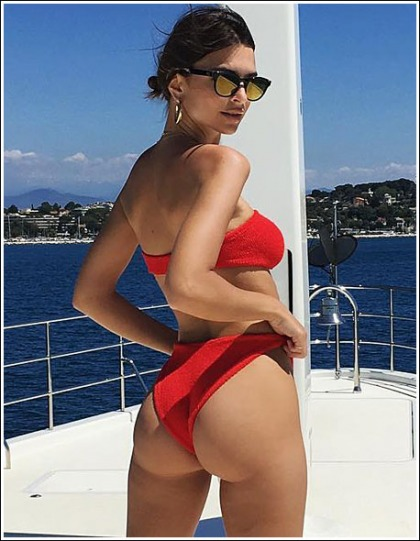 Emily Ratajkowski Busts Out Her Awesome Booty In A Skimpy Little Bikini' WOW!