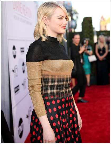 Emma Stone Goes Blonde, Looks Way Hotter And Bustier, Oh My!
