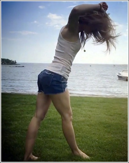 Jessica Biel Does Cartwheels, Shows Off Her Awesome Booty And Legs In Shorty Shorts While Doing So' WOW!
