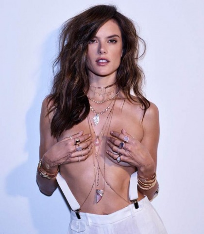 Alessandra Ambrosio Topless For The 4th Of July