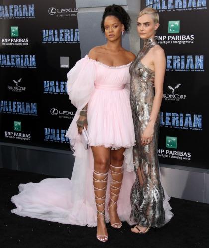 Rihanna in Giambattista Valli at the 'Valerian' premiere: ballerina-tragic'