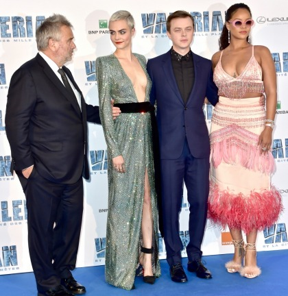 Rihanna wore Prada at Paris 'Valerian' premiere: feathered showgirl costume'