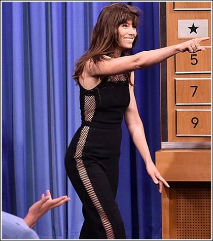 Jessica Biel Gets Busty Hot And Curvalicious For Jimmy Fallon