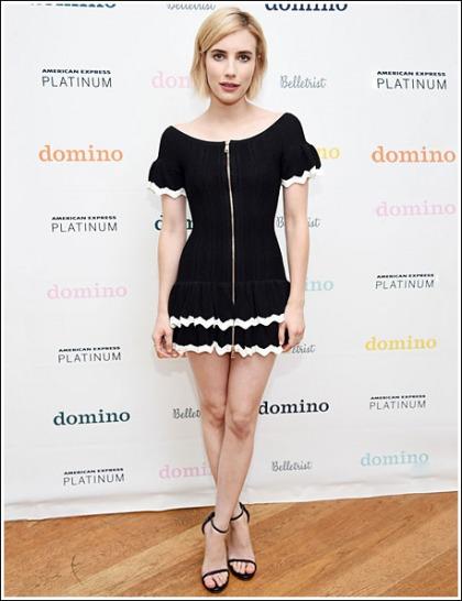 Emma Roberts Puts On A Drop Dead Sexy Leg Show