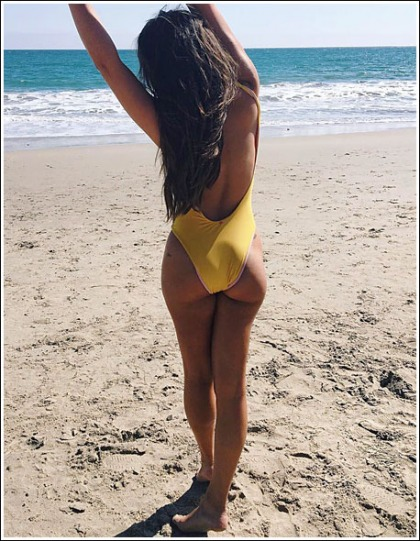 Lea Michele's Awesome Little Booty Spilling Out Of Her Swimsuit' Yes Please!