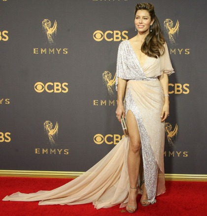 Jessica Biel in Ralph & Russo at the Emmys: tragic or improving?