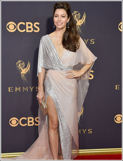 Jessica Biel Gets Ultra Sexy, And Leggy, And Cleavagy At The Emmy Awards