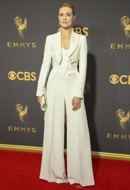 Evan Rachel Wood in a Moschino tuxedo at the Emmys: stunning & perfect?