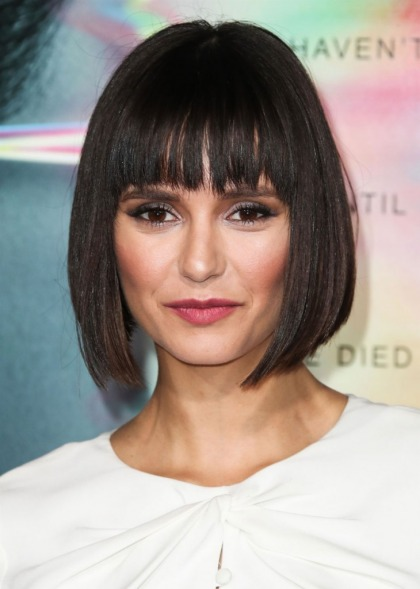 Nina Dobrev got the Pulp Fiction haircut: cute or too severe?