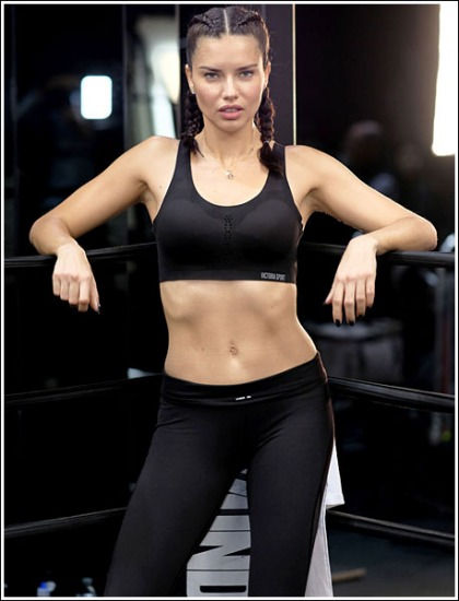 Adriana Lima Gives Us A Busty, Curvy, Leggy, And Bootylicious Workout