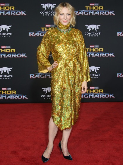 Cate Blanchett in glittery Gucci at the 'Ragnarok' premiere: stunning or nah'