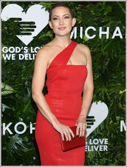 Kate Hudson Unveils Her Super Short Hairdo, And Busts Out Her Red Hot Cleavage And Curves