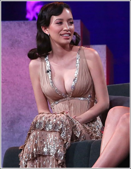 The Walking Dead's Christian Serratos Unveils Her Massive New Mom Cleavage