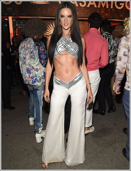 Alessandra Ambrosio Unleashes Her Insanely Sexy/Perfect Tummy For Halloween