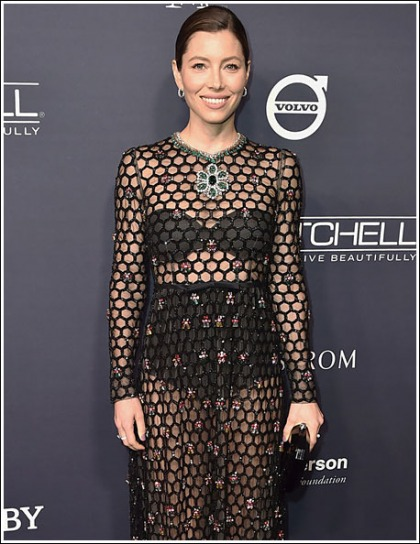Jessica Biel Looking All Kinds Of Stunningly Sexy In A Revealing Dress