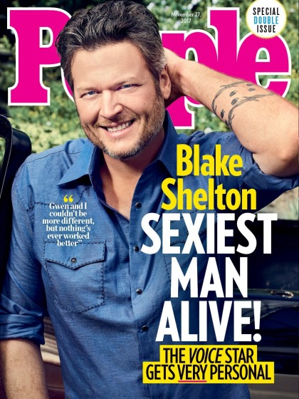 Blake Shelton on being People's SMA: 'Y?all must be running out of people'