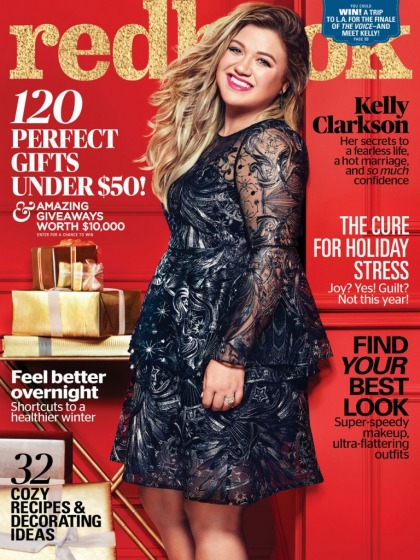 Kelly Clarkson covers Redbook: 'It's when I?m fat that I?m happy'