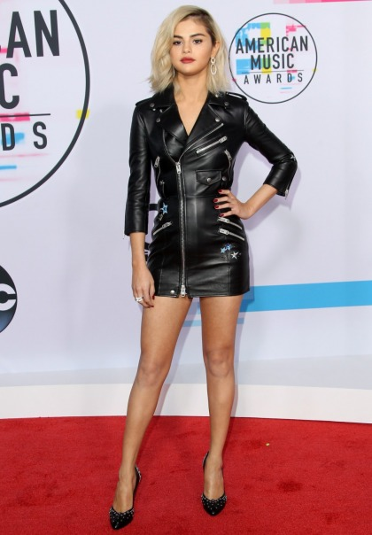 Selena Gomez in Coach, with newly bleached hair at the AMAs: ugh or amazing?