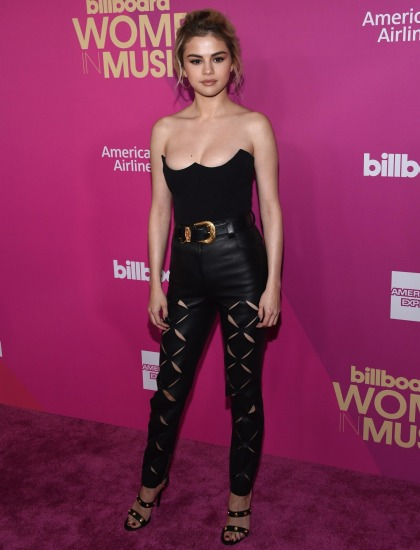 Selena Gomez wears Versace to be honored as Billboard's Woman of the Year