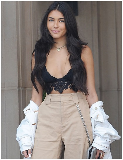 Madison Beer Busting Out Her Ginormous Cleavage In Only A Bra' WOW!