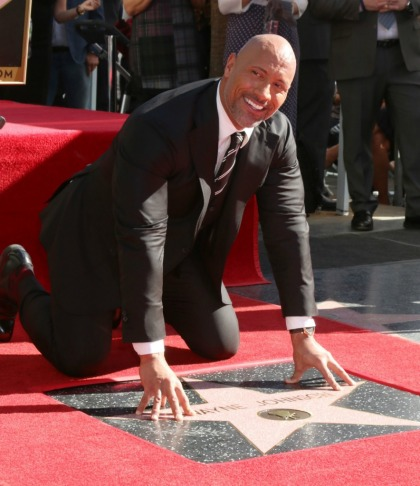 The Rock got a star on the Hollywood Walk of Fame