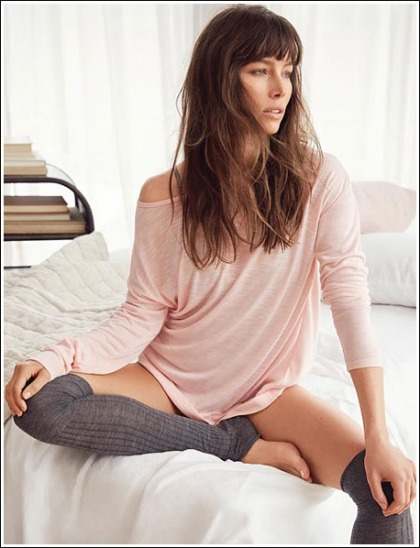 Jessica Biel Leggy And Ultra Sexy In Naughty Knee-High Socks