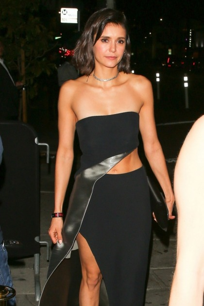 Nina Dobrev in Ralph Lauren at a Globes party: gorgeous and contemporary?